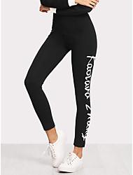 billiga -Dam Yoga byxor Svart sporter Mode Cykling Tights Löpning Fitness Sportkläder Magkontroll Microelastisk Smal / Vinter