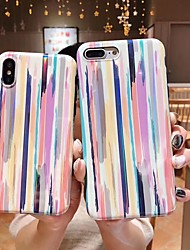 baratos -Capinha Para Apple iPhone XR / iPhone XS Max Anti-poeira / IMD Capa traseira Lightning Macia TPU para iPhone XS / iPhone XR / iPhone XS Max