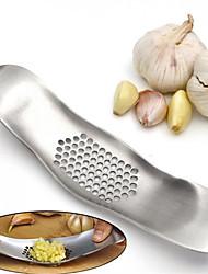Недорогие -Нержавеющая сталь чеснок пресс шлифовальный нож мясорубка металл новинка кухонная дробилка измельчитель резак