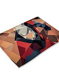 Недорогие -Современный Нетканые Квадратный Салфетки-подстилки 3D в мультяшном стиле Экологичные Настольные украшения 1 pcs