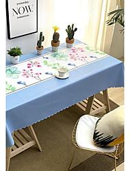 voordelige -Hedendaagse Informeel Acetaat Vierkant Tafellakens Bloemen Geometrisch Opdrukken Waterbestendig Tafeldecoratie 1 pcs