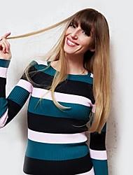 Χαμηλού Κόστους -Συνθετικές Περούκες Κατσαρά Ίσια / Φυσικό ευθεία Στυλ Πλευρικό μέρος Χωρίς κάλυμμα Περούκα Χρυσό Ανοικτό Χρυσαφί Ανοικτό Καφέ Μαύρο / Λευκό Συνθετικά μαλλιά 24 inch Γυναικεία / Μαλλιά με ανταύγειες