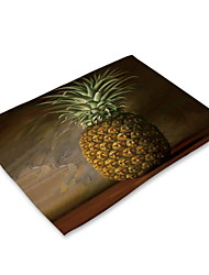 cheap -Contemporary Nonwoven Square Placemat Geometric Eco-friendly Table Decorations 1 pcs