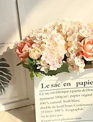 billiga -Konstgjorda blommor 4.0 Gren Klassisk Europeisk Brudbuketter Roser Hortensior Eviga Blommor Bordsblomma