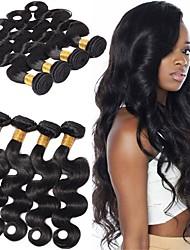 abordables -Lot de 6 Cheveux Brésiliens Ondulation naturelle Cheveux Vierges Naturel Tissages de cheveux humains Bundle cheveux One Pack Solution 8-28 pouce Couleur naturelle Tissages de cheveux humains Doux