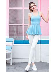 ราคาถูก -ชุดกีฬา Outfits / Yoga สำหรับผู้หญิง การฝึกอบรม / Performance ชุดชั้นในแบบChinlon กากะบาท เสื้อไม่มีแขน สูง Top / กางเกง
