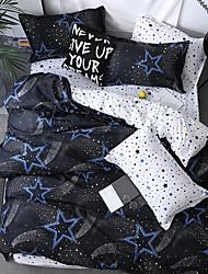 お買い得  -布団カバーセット 幾何学模様 / 贅沢 / 現代風 ポリスター プリント 4個Bedding Sets