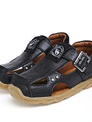 abordables -Chico Zapatos Cuero Verano Confort Sandalias para Negro / Amarillo / Azul