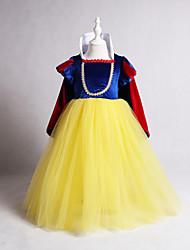 cheap -Kids / Toddler Girls' Vintage / Sweet Patchwork Long Sleeve Midi Dress Yellow