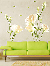 voordelige -Decoratieve Muurstickers - Vliegtuig Muurstickers Bloemenmotief / Botanisch Woonkamer / Slaapkamer / Keuken