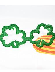 ราคาถูก -ปาร์ตี้ อุปกรณ์พรรค แว่นตาโพร ขอบ PC (Polycarbonate) Leaf Shape