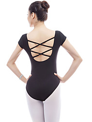 abordables -Ballet Leotardos Mujer Entrenamiento / Rendimiento Chinlon / Elastán / Viscosa Ceñido Manga Corta Leotardo / Pijama Mono