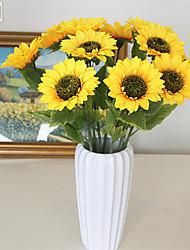 abordables -Fleurs artificielles 5 Une succursale Classique Traditionnel / Classique style pastoral Tournesols Fleur de Table