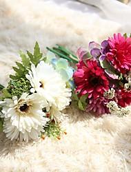 billiga -Konstgjorda blommor 7 Gren Klassisk Europeisk Brudbuketter Krysantemum Eviga Blommor Bordsblomma