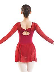 economico -Danza classica Body Per donna Addestramento / Prestazioni Cotone Di pizzo Manica lunga Calzamaglia / Pigiama intero