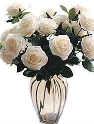 Недорогие -Искусственные Цветы 1 Филиал Классический Свадьба Свадебные цветы Розы Вечные цветы Букеты на стол