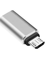 Недорогие -LIFETONE USB 3.0 Micro-B Адаптер, USB 3.0 Micro-B к USB 3.1 Type C Адаптер Male - Female 1080P Никелированная сталь 0.05m (0.15Ft) 5.0 Гб / сек.