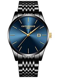 Недорогие -Муж. Нарядные часы Японский Кварцевый Нержавеющая сталь Черный / Серебристый металл / Золотистый 30 m Защита от влаги Календарь Секундомер Аналоговый Мода минималист Простые часы - / Два года