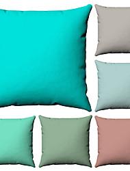 levne -6 ks Bavlna / Len Povlak na polštář, Jednobarevné Potisk Jednoduchý