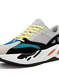 cheap -Men's Comfort Shoes Mesh Spring & Summer Sporty Athletic Shoes Running Shoes Breathable Gray / Rainbow / Brown