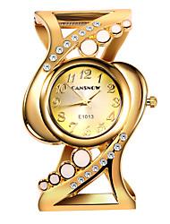 Недорогие -Жен. Нарядные часы Часы-браслет золотые часы Кварцевый Нержавеющая сталь Серебристый металл / Золотистый Повседневные часы Мрамор Аналоговый Кольцеобразный Цветной - Синий Розовый Золотистый