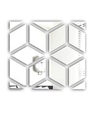 abordables -Autocollants muraux décoratifs - Miroirs Muraux Autocollants Forme Chambre à coucher / Intérieur
