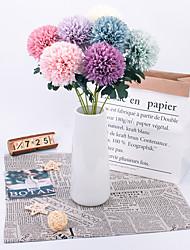 abordables -Fleurs artificielles 5 Une succursale Classique Accessoires de Scène Européen Plantes Fleurs éternelles Fleur de Table