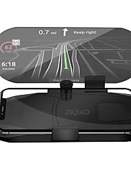 Недорогие -Ziqiao автомобиль HUD Head Up Display скорость предупреждение GPS навигация кронштейн HUD для смарт-мобильный телефон автомобильная подставка складной держатель