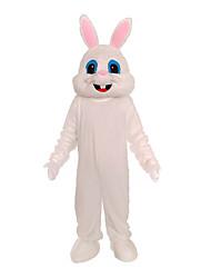 billige -Rabbit Mascot påskeharen Cosplay Kostumer Barne Voksne Dame Ett Stykke Cosplay Påske Festival / høytid Polyester Hvit / Krystall Karneval Kostumer Fargeblokk