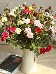 billiga -Konstgjorda blommor 1 Gren Klassisk Europeisk Roser Eviga Blommor Bordsblomma