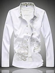 economico -camicia da uomo - collo camicia geometrico