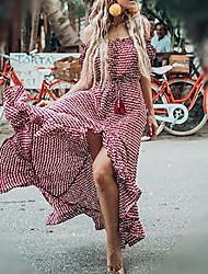cheap -Women's Swing Dress Red M L XL