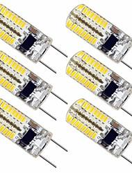 abordables -6pcs 2.5 W 180 lm G8 Luces LED de Doble Pin T 64 Cuentas LED SMD 3014 Encantador Blanco Cálido Blanco Fresco 110-130 V