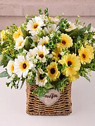 abordables -Fleurs artificielles 5 Une succursale Classique Traditionnel / Classique Européen Marguerites Fleurs éternelles Fleur de Table