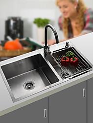 Недорогие -Kitchen Sink- 304 Нержавеющая сталь Матовый Прямоугольный Undermount Двойная чаша