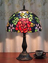 Недорогие -12-дюймовый настольный светильник художественный / роза цветок тиффани окружающие лампы декоративные прекрасный настольная лампа для спальни в помещении смолы 110-120 В 220-240 В 40 Вт * 1