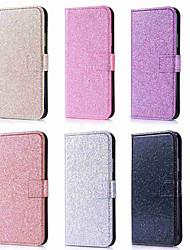 billiga -fodral Till Apple iPhone XR / iPhone XS Max Plånbok / Korthållare / Lucka Fodral Enfärgad / Glittrig Hårt PU läder för iPhone XS / iPhone XR / iPhone XS Max