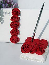 Недорогие -Свадьба Книги пожеланий / Ручки С Цветы Нетканые