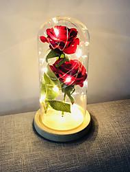 Недорогие -BRELONG® 1шт LED Night Light Тёплый белый Аккумуляторы AAA Беспроводной / День рождения / Украшение 4.5 V