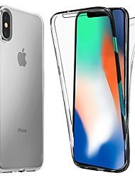 Недорогие -Кейс для Назначение Apple iPhone X / iPhone XS Max Защита от удара / Ультратонкий / Прозрачный Чехол Однотонный Мягкий ТПУ для iPhone XS / iPhone XR / iPhone XS Max