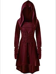 رخيصةأون -المرأة في الركبة طول القميص سليم اللباس النبيذ الجيش الأخضر الأرجواني ق م ل xl