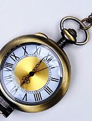 cheap -Men's Pocket Watch Quartz Bronze New Design Casual Watch Cool Analog New Arrival Minimalist - Bronze