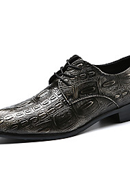 baratos -Homens Sapatos formais Sintéticos Primavera / Outono & inverno Casual / Formais Oxfords Não escorregar Preto / Vinho / Dourado / Festas & Noite