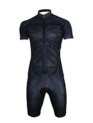 お買い得  -男性用 女性用 半袖 ショーツ付きサイクリングジャージー - ブラック バイク 速乾性 スポーツ スーパーヒーロー マウンテンサイクリング ロードバイク 衣類 / 伸縮性あり
