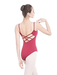 abordables -Ballet Leotardos Mujer Entrenamiento / Rendimiento Algodón / Elastán / Viscosa Ceñido Sin Mangas Leotardo / Pijama Mono