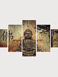 abordables -Imprimé Impressions sur toile roulées Impression sur Toile - Religion & Spiritualité Spirituel Contemporain Moderne Cinq Panneaux