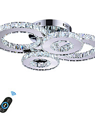 Недорогие -Потолочные светильники Рассеянное освещение Прочее Металл Хрусталь, LED 110-120Вольт / 220-240Вольт Белый / Диммируемый с дистанционным управлением / Wi-Fi Smart