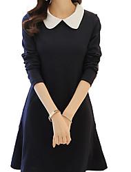 저렴한 -여성용 우아함 칼집 드레스 - 솔리드 무릎 위