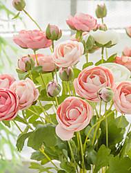 levne -Umělé květiny 1 Větev Klasické Jevištní doplňky Pastýřský Styl Camellia Věčné květy Květina na stůl