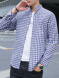 cheap -Men's Shirt - Color Block Print